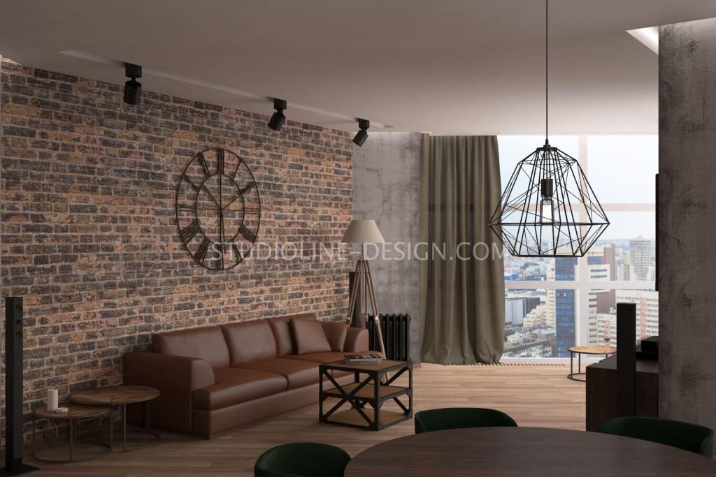 Большие кованные настенные часы с римским циферблатом - основной декоративный центр интерьера